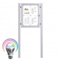 LED Schaukästen mit Standpfosten - Magnetisch